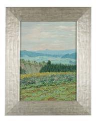 """Der Rote Berg II"" Impressionist German Landscape Oil Painting, 1932"