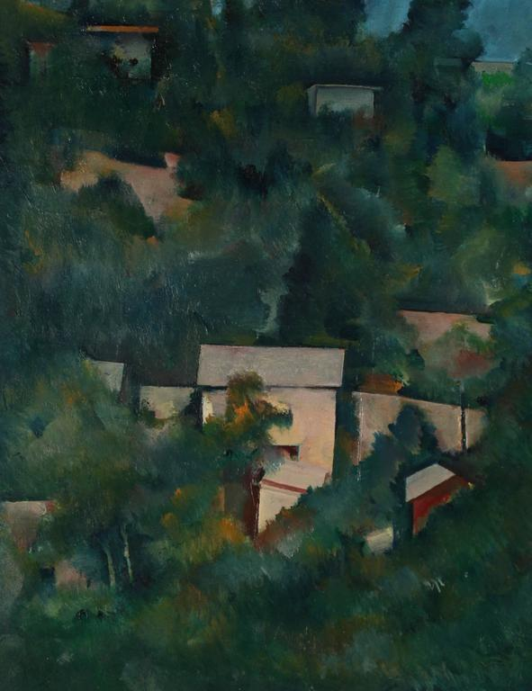 Schuyler Standish Landscape Painting - The Hills of Los Angeles, Oil on Paper, 20th Century