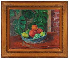 Still Life with Fruit, Oil on Canvas, 20th Century