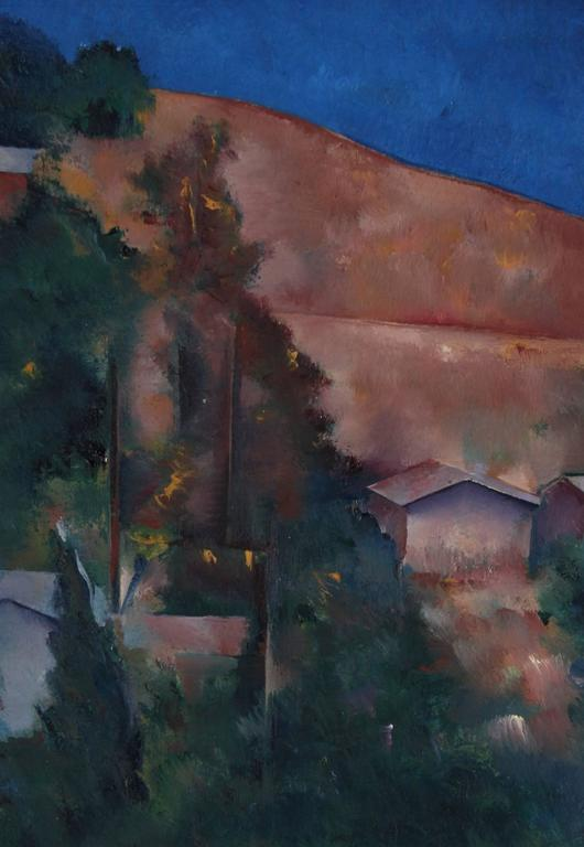 Petite California Landscape in Oil, Late 20th Century