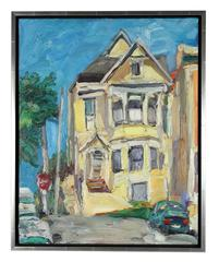 San Francisco Victorian Home, 20th Century Oil on Canvas