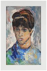 """""""Jan"""" Modernist Portrait Oil Painting, 1965"""