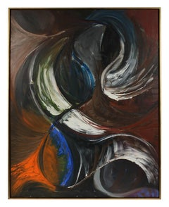 """Projection"", Large Abstract in Oil, 1957"