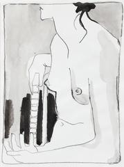 Monochromatic Figure Study in Ink, 1995