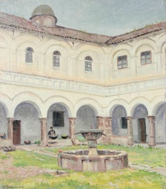 """Convento de San Francisco"" Oil on Canvas, Circa 1940s"