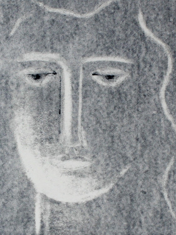 """""""Moon III"""" Monotype Portrait, 2014"""