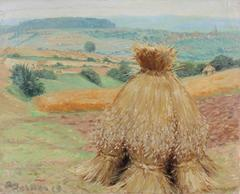 """View of Ruppertsburg with Haystacks"""