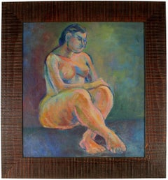 Expressionist Figure in Oil Paint, 1940s