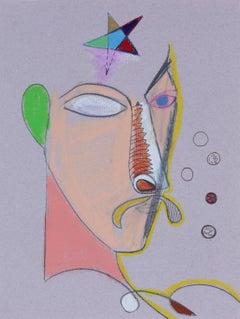 1970s Surrealist Portrait in Pastel