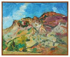 """Palasades"" New Mexico Landscape"