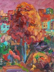 Vivid Fauvist San Francisco Tree in Oil