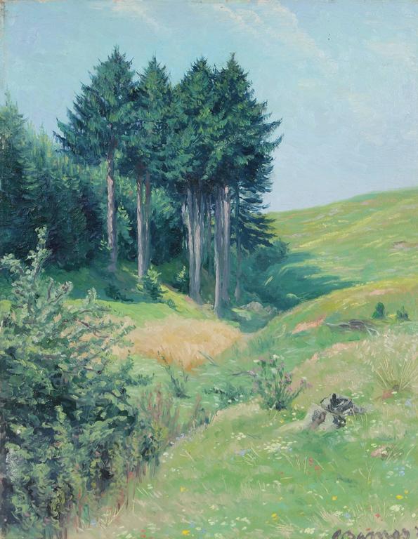 """Slope of Eulergraben"", Plein Air German Landscape, 1931"