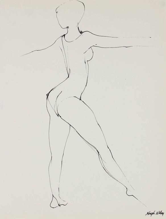 Portrait of a Dancer in Ink, 1974