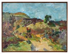 Hillside Landscape in Oil