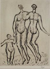 Expressionist Figures with Child
