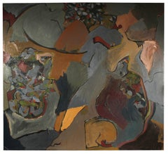 Large Abstract Expressionist Oil, 1966