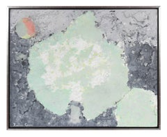 """Winter Solstice"", Lichen Study, Abstracted Nocturnal Landscape in Oil, 2017"