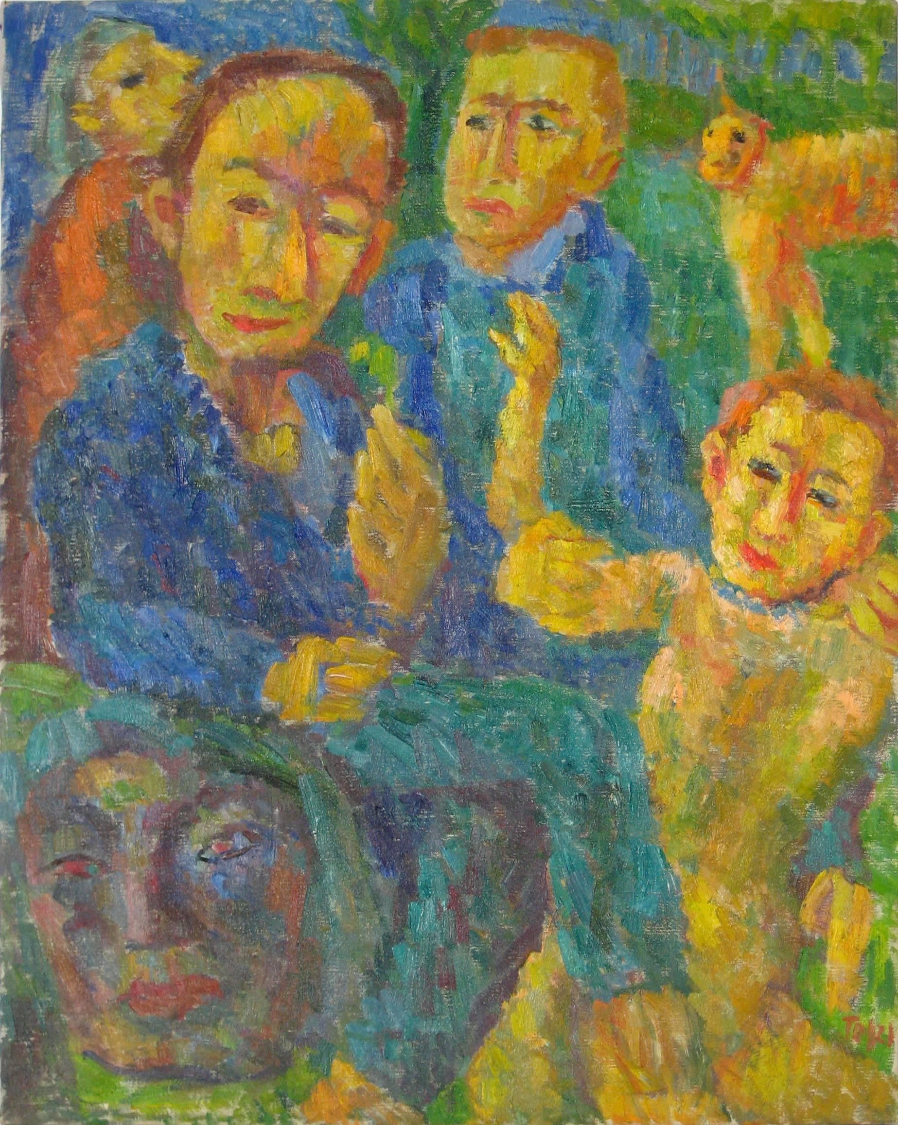 """""""Intruder"""" Expressionist Oil Painting, 1958"""