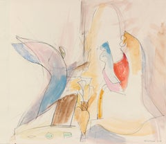 """Annunciation"" Pale Modernist Abstract, 20th Century"