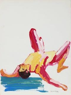 """Male Figure #19"", Bay Area Figurative Painting, Circa 1960s"