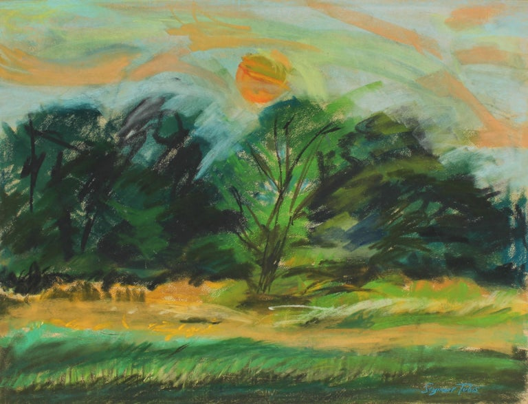 Countryside Landscape in Pastel, 20th Century