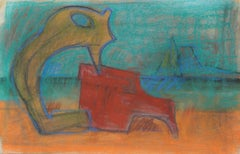 Modernist Abstract in Pastel, 1960s