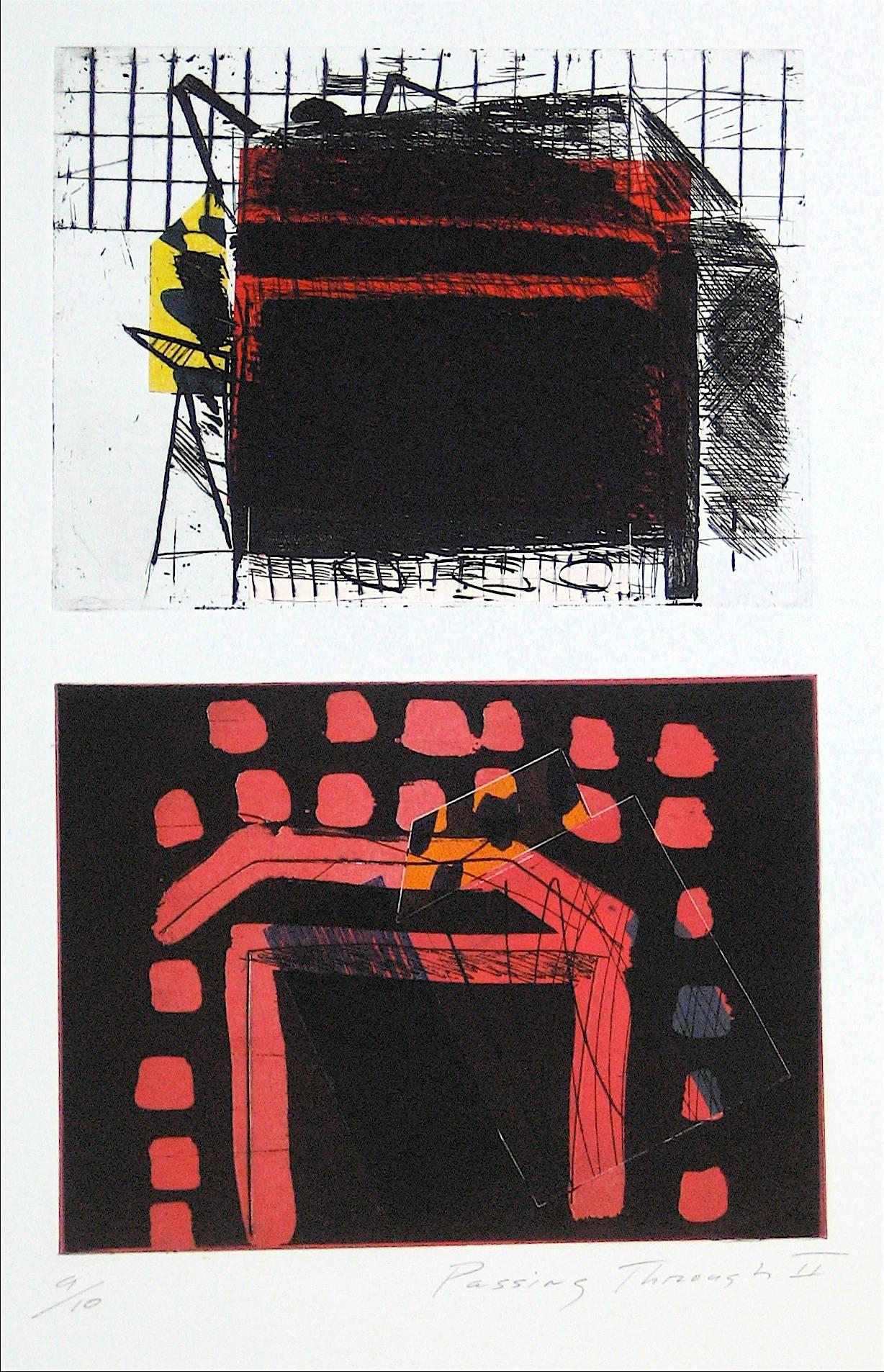 """Passing Through II"" Abstract Mixed Media Print, 1989"