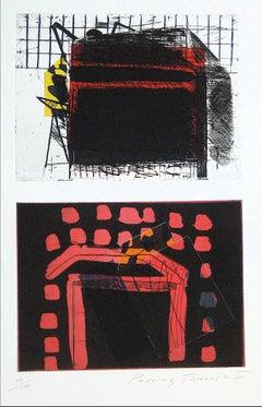 """Passing Through II"" Abstract Mixed Media Print, 1989"