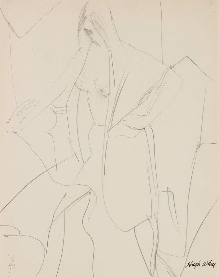 Draped Nude in Graphite, 1960-1961