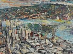 """East City"", San Francisco Bay Bridge Oil Painting"