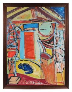 The Artist's Studio in Paris, Mid 20th Century, Oil Painting