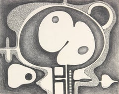 Surrealist Abstract in Graphite, 1984
