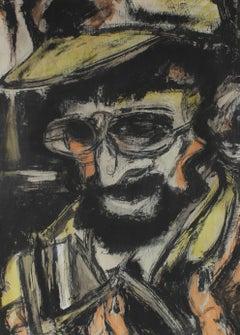 Expressionist Portrait Painting, Circa 1950s