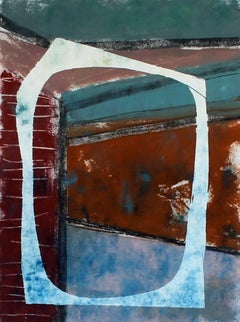 """""""In Through the Out Door II"""", Abstract Monotype Print, 2014"""
