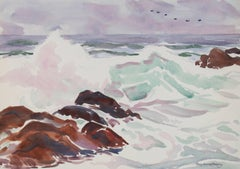 Carmel Seascape in Watercolor, 20th Century