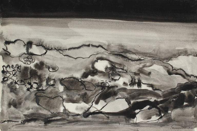 Monochromatic Abstract in Ink, 20th Century