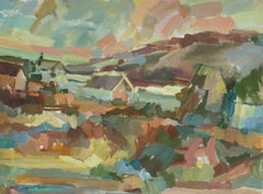 """Monhegan, Maine"", Acrylic Paint, 1960"