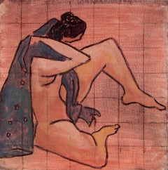Female Figure in Oil Paint, 20th Century