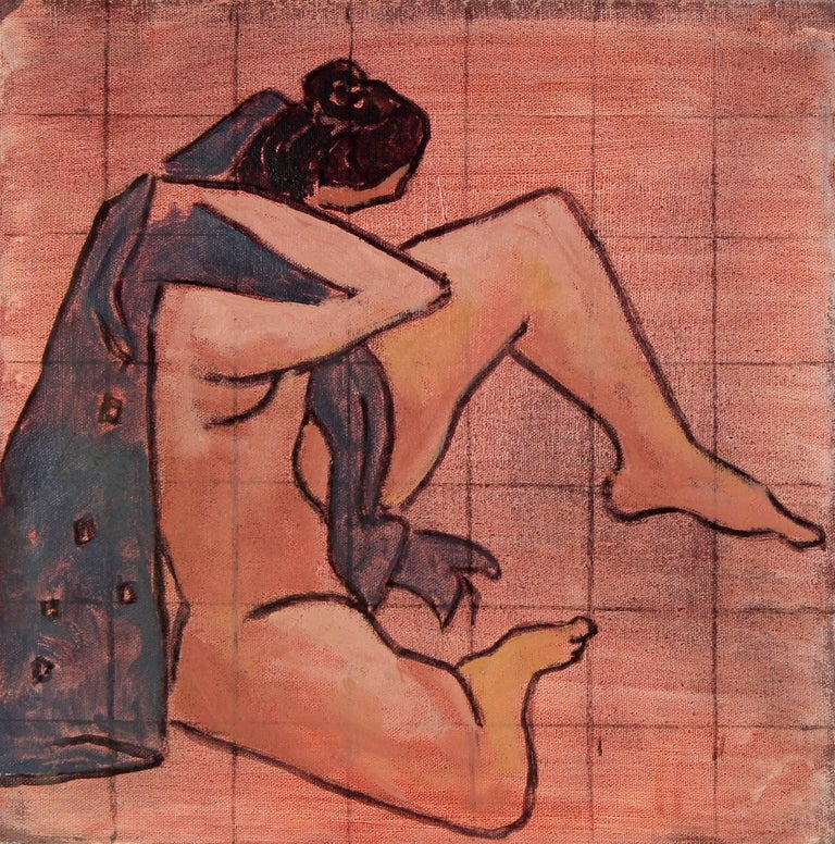Female Figure in Oil Paint, 20th Century - Painting by Rip Matteson