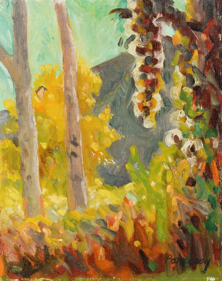 Autumn Forest Landscape in Oil, 20th Century