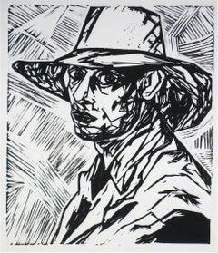 """""""Duncan Grant I"""" Linoleum Block Print, 2009"""