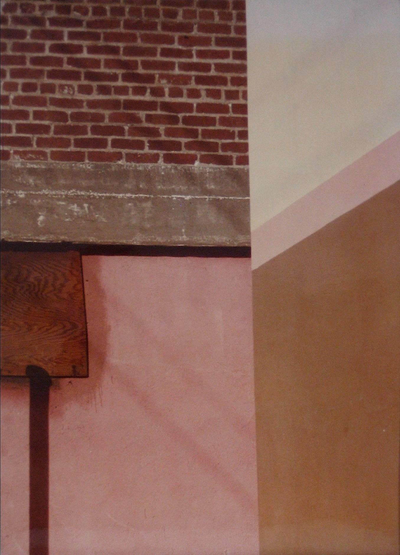 """City Art 17"" Abstracted Landscape Color Photograph with Brick and Pink, 1970s"