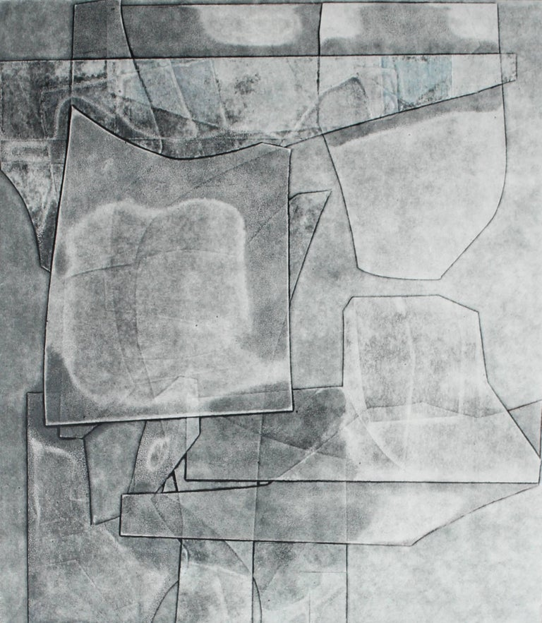 """""""Codex"""" Abstract Monotype in Gray, 2015"""