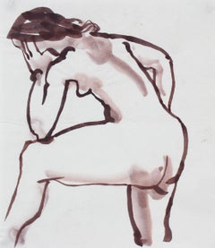Modernist Figure in Ink Wash