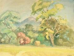 California Landscape in Watercolor, Mid Century