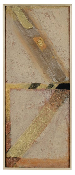 Textured Abstract in Neutral Tones, Mixed Media Painting
