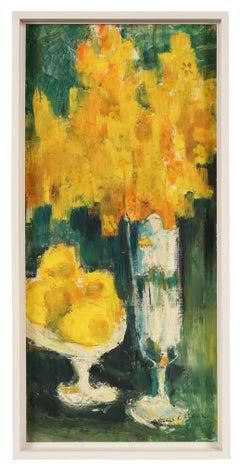 """""""Lemons and Flowers"""" Still Life in Oil, 1962"""
