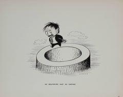 """No Beginning and No Ending"" Cartoon Illustration, Ink Drawing, 1946"