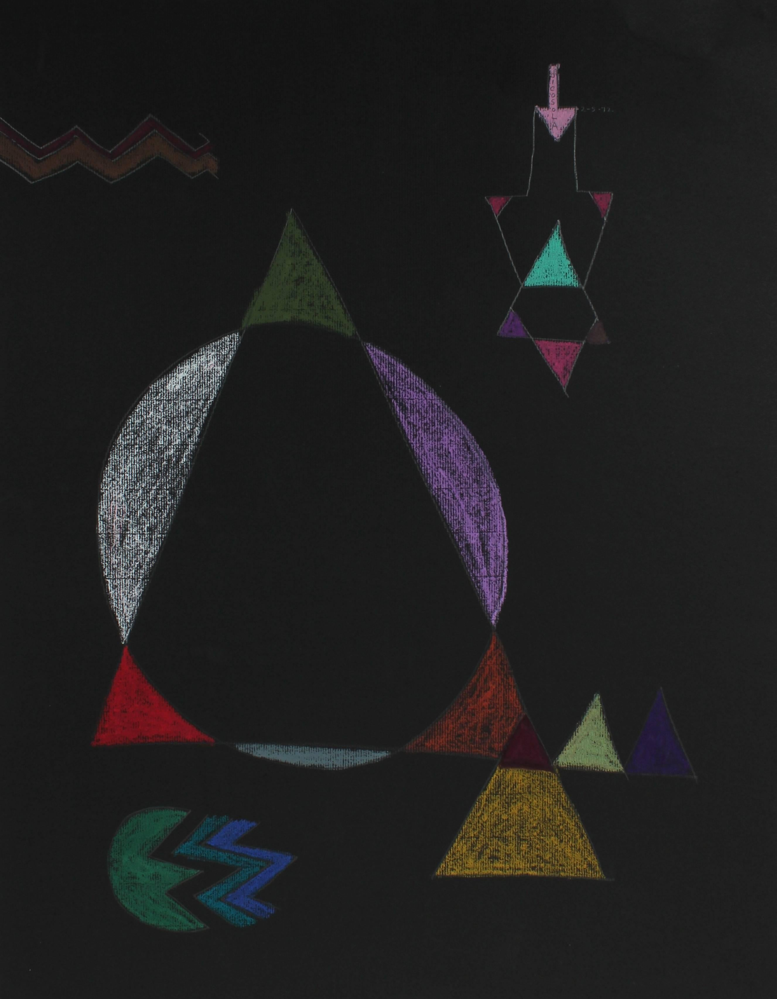 Geometric Abstract in Pastel, ,1972