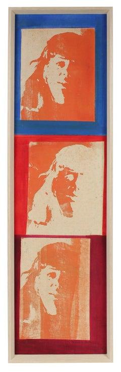 """""""Three Faces"""" Mid Century Silkscreen"""